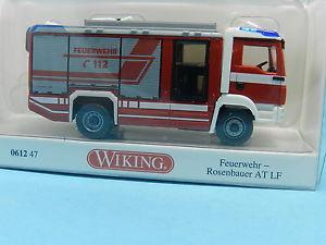 【送料無料】模型車 モデルカー スポーツカー wiking 061247 man rosenbauer feuerwehr at lf 187