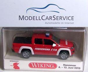【送料無料】模型車 モデルカー スポーツカー モデルwiking sondermodell 031157 vw amarok feuerwehr, rotwei interschutz 2015