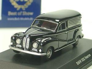 【送料無料】模型車 モデルカー スポーツカー ボスbos bmw 502 hearse, leichenwagen, schwarz 87160 187
