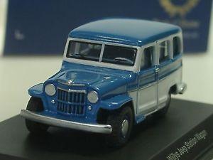 【送料無料】模型車 モデルカー スポーツカー ジープステーションワゴンbos willys jeep station wagon, blauwei 87010 187