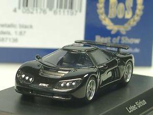 【送料無料】模型車 モデルカー スポーツカー シリウスブラックメタリックbos lotec sirius, schwarzmetallic 87136 187
