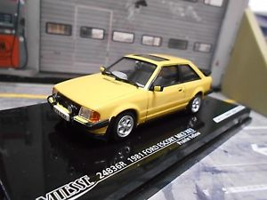 【送料無料】模型車 モデルカー スポーツカー フォードエスコートドアford escort mkiii mk3 xr3 xr 3 3 door 1981 gelb yellow vitesse 143