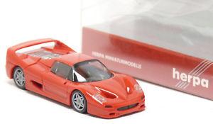 【送料無料】模型車 モデルカー スポーツカー フェラーリモデルスポーツカーherpa 025485 ferrari f50 f 50 hardtop modell rot sportwagen 187 h0