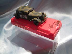 【送料無料】模型車 モデルカー スポーツカー ァーシトロエントションアヴァンギャルドモデルneues angebotcitroen traction avant 15 cv militr,143 modell von solido,neuwertig in ovp,