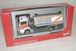 【送料無料】模型車 モデルカー スポーツカー herpa 187 047944 man tgs m wlf werkfeuerwehr mit abrollcontainer ovpec2180