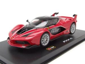 【送料無料】模型車 モデルカー スポーツカー フェラーリ#モデルカーferrari fxx k 88 2015 rot, modellauto 143 burago