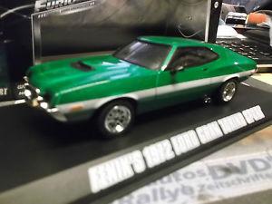【送料無料】模型車 モデルカー スポーツカー フォードグラントリノスポーツクーペグリーングリーンライトford gran torino sport coupe grn met 1972 fe fast amp; the furious greenlight 143