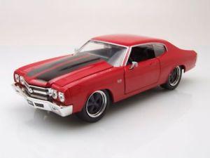 【送料無料】模型車 モデルカー スポーツカー シボレーモデルカーchevrolet chevelle 1970 rot dom fast amp; furious, modellauto 124 jada toys
