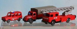 【送料無料】模型車 モデルカー スポーツカー ゲージwiking 093404 096203 096501 , spur n, 3 feuerwehrfahrzeuge