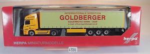 【送料無料】模型車 モデルカー スポーツカー メルセデスベンツアクトロスセミトレーラトタ#herpa 187 156547 mercedes benz actros sattelzug goldberger spedition ovp 6394
