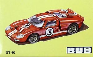 【送料無料】模型車 モデルカー スポーツカー モデルカーフォードagn bub modellauto ford gt 40 gelb mib selten