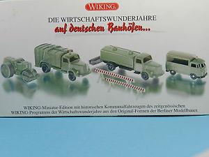 【送料無料】模型車 モデルカー スポーツカー ドイツヤードwiking 9905552 set wirtschaftswunderjahre auf deutschen bauhfen 187
