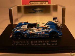 【送料無料】模型車 モデルカー スポーツカー スパークペスカローロジャッド#187 spark pescarolo 01 judd 17 lm 07