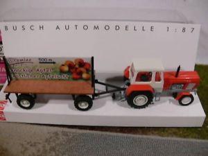 【送料無料】模型車 モデルカー スポーツカー ブッシュポスタートター187 busch traktor fortschritt mit plakatwagen 42807