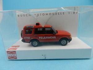 【送料無料】模型車 モデルカー スポーツカー ランドローバーディスカバリーbusch 51910 landrover discovery feuerwehr 187