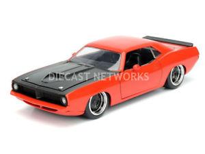【送料無料】模型車 モデルカー スポーツカー プリマスバーダjada toys 124 plymouth barracuda 1973 98236or