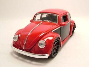 【送料無料】模型車 モデルカー スポーツカー フォルクスワーゲンビートルモデルカーvw kfer 1959 rotschwarz, modellauto 124 jada toys