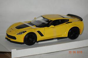 【送料無料】模型車 モデルカー スポーツカー シボレーコルベットchevrolet corvette z06 gelb 124 maisto neu ovp 531133