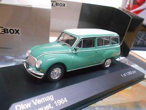 【送料無料】模型車 モデルカー スポーツカー オートユニオンコンビアウディネットワークホワイトボックスdkw 36 autounion vemag kombi 1964 green grn audi 11000 ixo white box 143