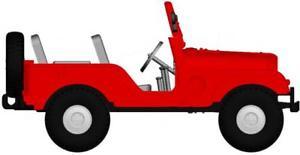 【送料無料】模型車 モデルカー スポーツカー ジープユニバーサルbrekina pkw jeep universal, rot 58904