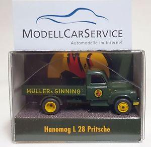 【送料無料】模型車 モデルカー スポーツカー モデルミュラーwiking sondermodell 187 h0 hanomag l 28 pritschenlkw mller amp; sinning