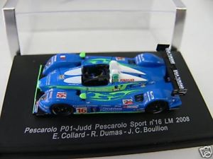 【送料無料】模型車 モデルカー スポーツカー スパークペスカロロコラールデュマ187 spark pescarolo nr16 lm 2008 e collard,r dumas