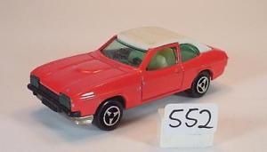 【送料無料】模型車 モデルカー スポーツカー フォードカプリクーペ##majorette 160 nr 251 ford capri coupe rotwei nr 2 552