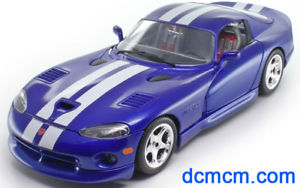 Burago Bura22048b Dodge Viper Gts Coupe Bleue 1//24