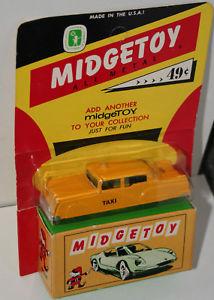 【送料無料】模型車 モデルカー スポーツカー タクシーダイカストmidgetoy yellow taxi cab diecast nos moc 1960s toy car