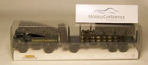 【送料無料】模型車 モデルカー スポーツカー モデルトレーラーロードbrekina sondermodell 48027 mb lps 338 db mit rungenanhnger und ladegut