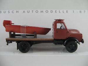 【送料無料】模型車 モデルカー スポーツカー アルボートbusch 50813 hanomag al 28 mkw pritsche 1958 in braun m boot 187h0 neuovp
