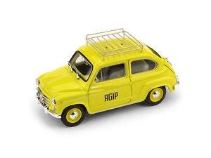 【送料無料】模型車 モデルカー モデルカー スポーツカー スポーツカー フィアットハムfiat 1960 600d agip 1960 brumm r543, ナカゴウムラ:303360b6 --- djcivil.org