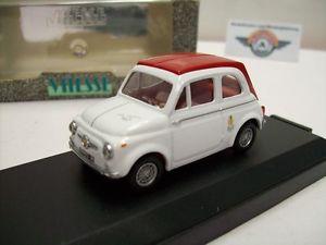 【送料無料】模型車 モデルカー スポーツカー フィアットアバルトホワイトレッドfiat abarth 695 ss, weirot, 1964, vitesse 143, ovp
