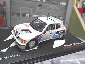 【送料無料】模型車 モデルカー スポーツカー プジョーモンテカルロラリー#バタネンネットワークpeugeot 205 t16 grb rallye monte carlo 1985 2 vatanen winner ixo altaya 143