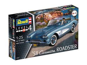 【送料無料】模型車 モデルカー スポーツカー コルベットロードスタースカラ1958 corvette roadster scala 125 revell 07037