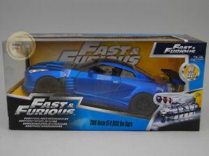 【送料無料】模型車 モデルカー スポーツカー スカイラインシリーズnissan skyline gtr r35 2009 blue fast amp; furious series jada toys 124