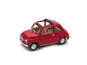 【送料無料】模型車 モデルカー スポーツカー フィアットロッソモデルハムfiat 500 f 196572 aperta rosso medio 143 model r45401 brumm