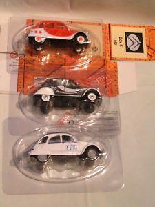【送料無料】模型車 モデルカー スポーツカー ロット×シックアシェットnorev 143 lot 2cv x 3  2 cv 6 chic hachette