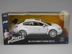 【送料無料】模型車 モデルカー スポーツカー シリーズsubaru wrx sti white fast amp; furious series jada toys 124 ja98296wh