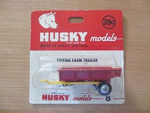 【送料無料】模型車 モデルカー スポーツカー ハスキーミントチップフラムhusky 8 tipping fram trailer in ovp mint