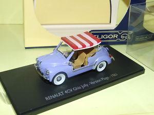 【送料無料】模型車 モデルカー スポーツカー ルノーギアジョリーバージョンペストrenault 4cv ghia jolly version plage 1961 eligor