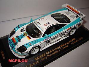 【送料無料】模型車 モデルカー スポーツカー ネットワークサリーンモータースポーツルマンixo lmm043 en s7r n66 konrad motorsport le mans 2002 au 143