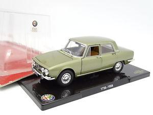 【送料無料】模型車 モデルカー スポーツカー レオモデルアルファロメオleo models 124 alfa romeo 1750 1968 verte