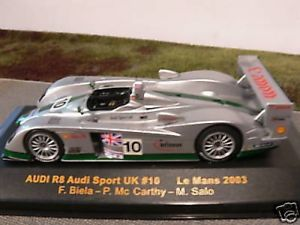 【送料無料】模型車 モデルカー スポーツカー ネットワークアウディアウディスポーツ#ルマン143 ixo audi r8 audi sport uk 8 le mans 2004