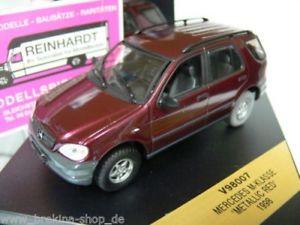 【送料無料】模型車 モデルカー スポーツカー クラスメタリックレッド143 vitesse mb mklasse rotmetallic 1998 v98007