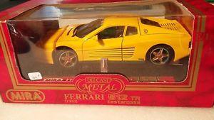 【送料無料】模型車 モデルカー スポーツカー フェラーリmira 6144 ferrari 512 tr testarossa 1991 jaune 118