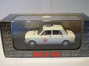 【送料無料】模型車 モデルカー スポーツカー リィアットクローチェロッソコモリオ143 rio fiat 128, croce rosso como 1970, ovp, rio 4187
