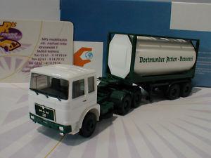 【送料無料】模型車 モデルカー スポーツカー herpa 927857 man f8 tankcontainersattelzug dab brauerei wei187 neu