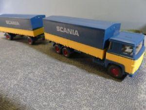 【送料無料】模型車 モデルカー スポーツカー スカニアスカニアラックトレーラー187 wiking scania 111 scania pritschen hngerzug 460 a