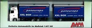 【送料無料】模型車 モデルカー スポーツカー モデルアクトロスawm werbemodell mb actros lh mp3 hz paneuropa transport gmbh neu selten